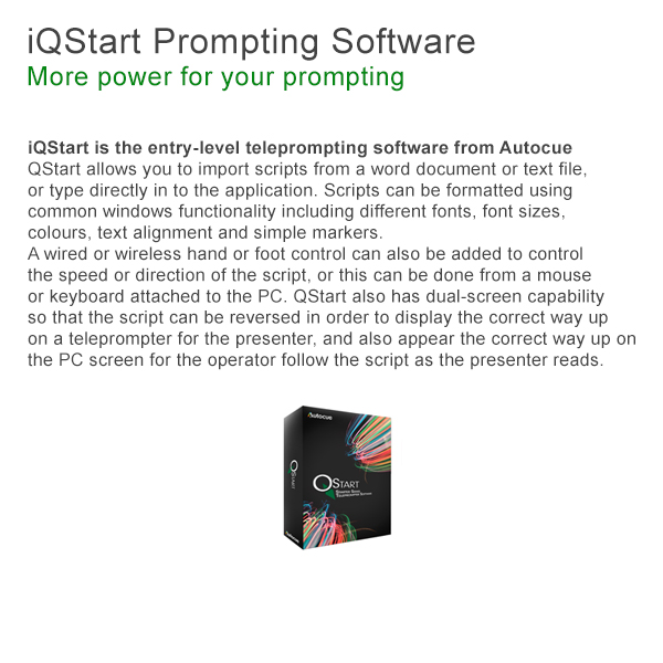 Autocue Beginner Teleprompter Software QStart