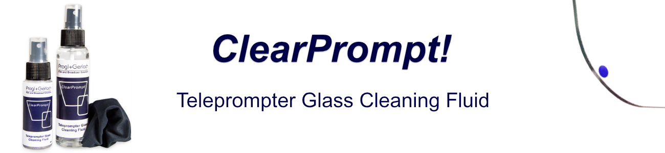 ClearPrompt! Teleprompter Glass Cleaning Fluid