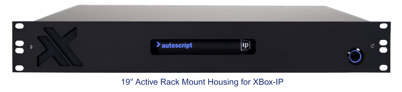 "19"" Active Rackmount Housing for XBox-IP"